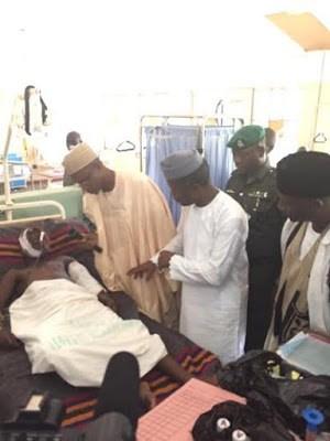Vice Pres. Osinbajo Visits Gombe Bomb Blast Victims [See Photos]